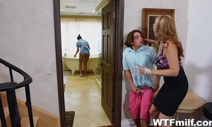 Stepmom julia ann 3some with the maid abby lee brazil