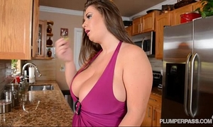 Busty pornstar nikki smith bonks hubbys ally in kitchen