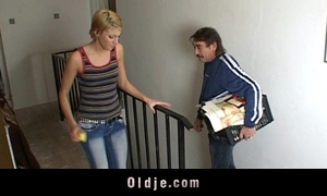 Young cleaning white wife fuck rude mature