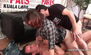 Hard casting french redhead analized and double permeated with a priceless facial