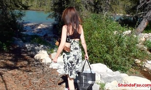 Canadian cookie outdoors! milf shanda fay receives off!