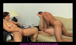 Femaleagent real couples vehement casting fuck