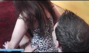 Horny newbie in erotic lapdance act