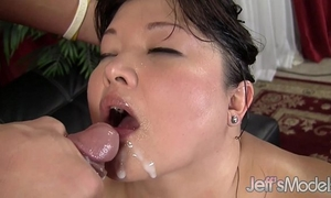 Asian plumper kelly shibari receives filled with schlong