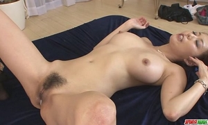 Creampied in one as well as the other holes after akari asagiris 3some