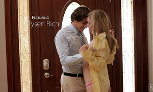 Nubile films - cute legal age teenager face splattered with jism