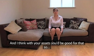 Fakeagentuk non-professional british wife with giant scoops receives multiple orgasms