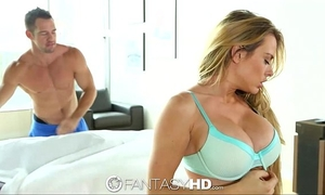 Hd - fantasyhd breasty corrine blake acquires rub down on pierced love button