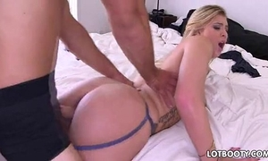 Juicy sexy blond with large butt receive drilled
