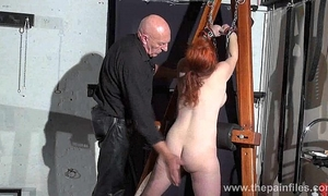 Young redhead slavegirl vickys dungeon whipping and swedish uncomplaining fastened