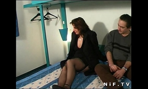 Chubby french wench anal screwed