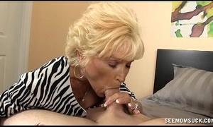 Naughty granny oral job