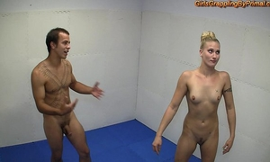 Naked domination wrestling
