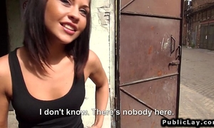 Hungarian non-professional hottie fuck in factory