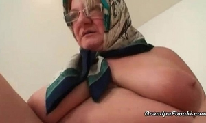 Fat aged blond can't live without hardcore sex