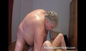 Fat old stud rimmed and deepthroated by hawt milf
