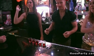 Bartenders fucking nubiles after party