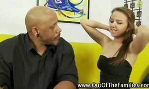 Stepdaughter engulfing stepfather rod