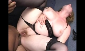 Chubby redhead drilled in the a-hole wearing a strap