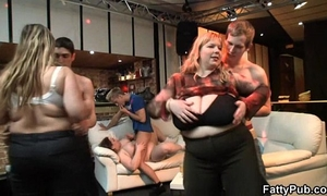 Plump babe acquires drilled at party