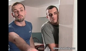 Two on 2 group sex act where bitches