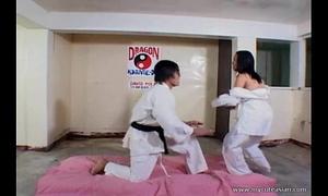 Filipina whore screwed hard after karate