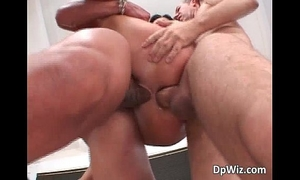 Nasty dark brown babe sucks boner