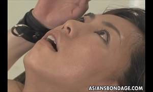Asian chick bond and fuckd by a fucking machine