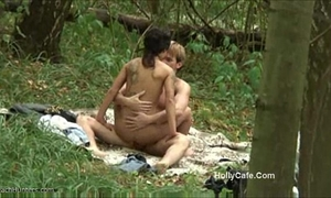 Amateur fucking forest pair