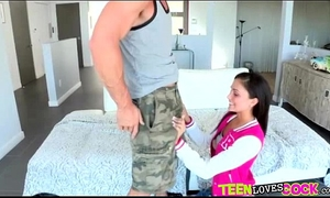 Cock crazed breasty legal age teenager acquires pounded by a biggest ding-dong and is facialized